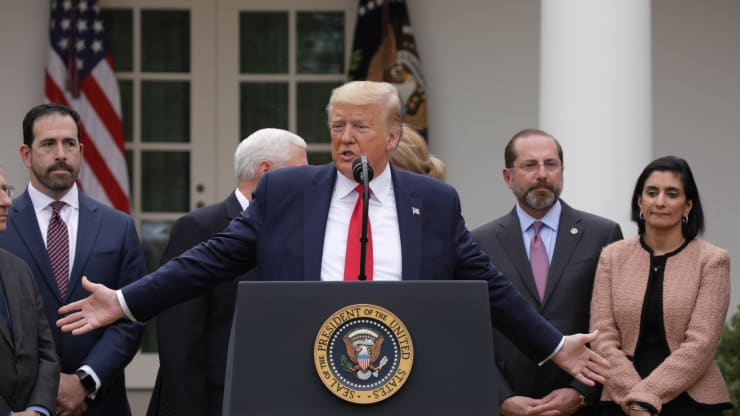 Trump declares a national emergency in the Rose Garden