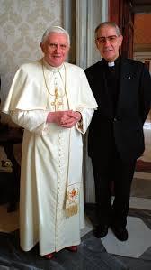 Le père Nicolas avec Benoît XVI