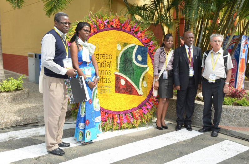 Participants to the world congress in Medellin in 2013